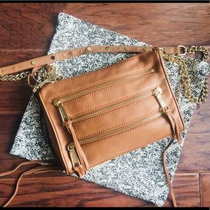 Mini 5-Zip Convertible Cross-Body Handbag